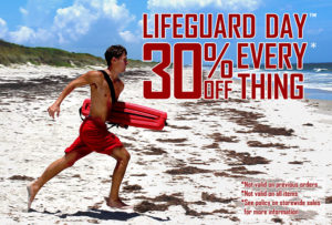Lifeguard Day sale